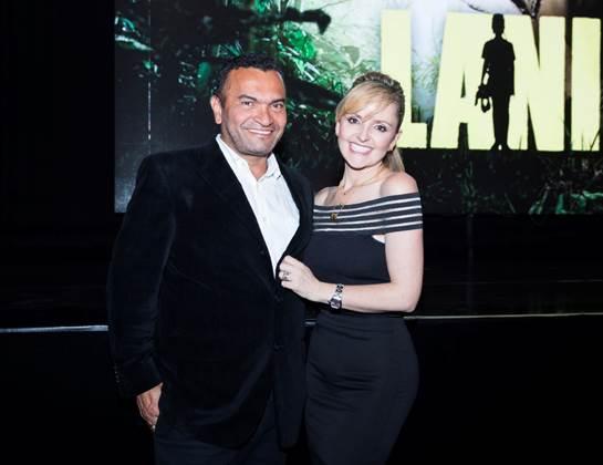 Diego Vásquez y Marta Restrepo vivieron con intensidad la proyección del primer capítulo de La Niña.