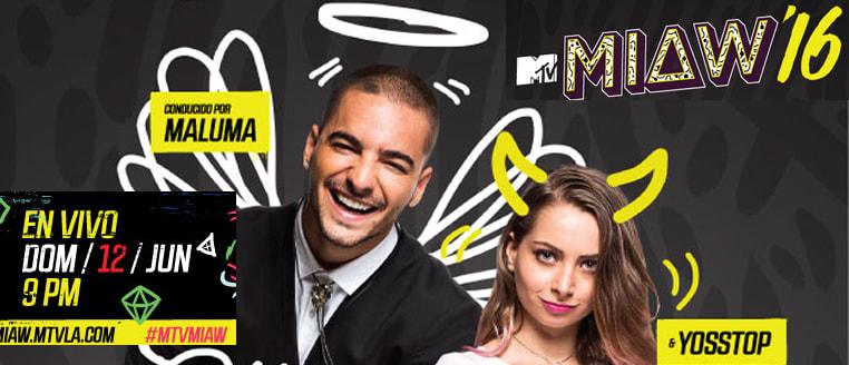 Maluma y la estrella de Youtube Yosstop serán los anfitriones de los premios MTV Miaw'16